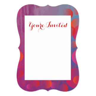 Funky Bold Fire and Ice Geometric Grunge Design 13 Cm X 18 Cm Invitation Card