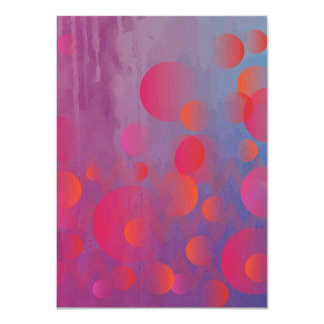 Funky Bold Fire and Ice Geometric Grunge Design Card