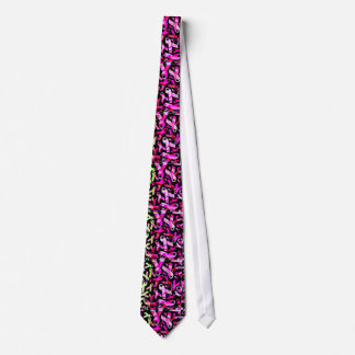 Funky Breast Cancer Ribbons Tie