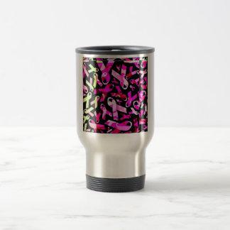 Funky Breast Cancer Ribbons Travel Mug