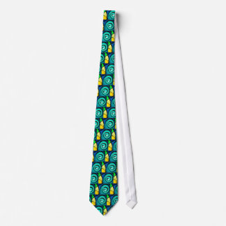 Funky Bright Swirls Abstract Art Painting Tie