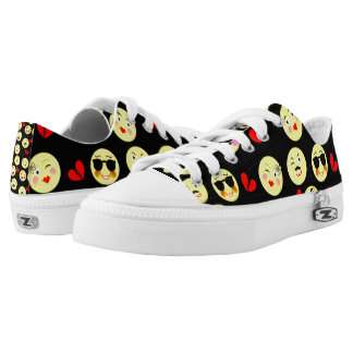 Funky Bright Trendy Emoticons Design Printed Shoes