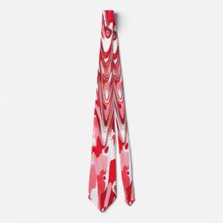 funky chevron red (C) Tie