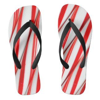 Funky Chrstmas Candy Canes Jandals