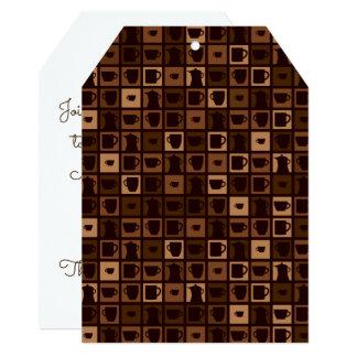 Funky coffee mosaic card