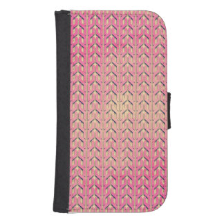 Funky Colorful Pink  Beige Geometric Pattern