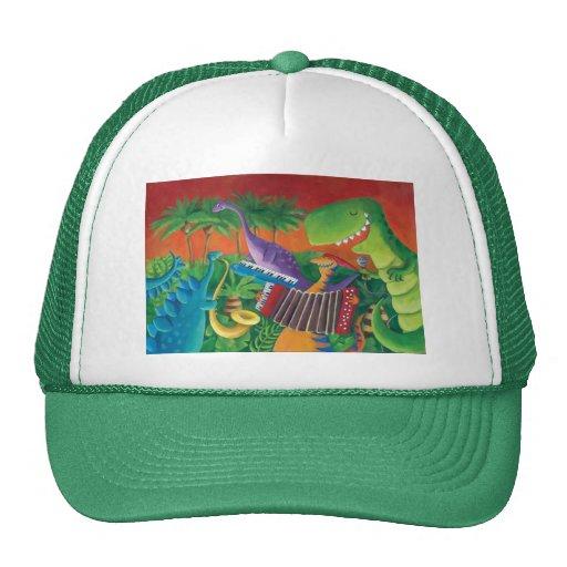 Funky Dinosaur Band Mesh Hat