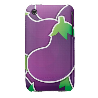 Funky eggplant Case-Mate iPhone 3 case