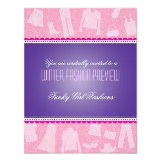 "Funky Fashion Show Invitation 4.25"" X 5.5"" Invitation Card"