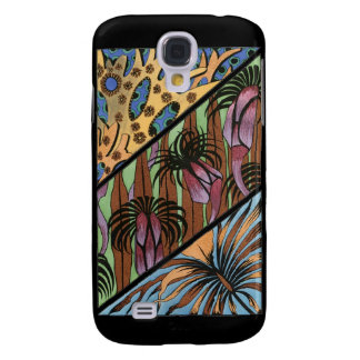 Funky Floral Tribal Print Galaxy S4 Case