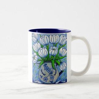 "Funky Floral ""Tulip"" Coffe Mug"