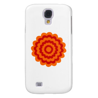 Funky Flower in Orange and Red. Galaxy S4 Case