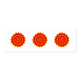 Funky Flower in Orange and Red. Pack Of Skinny Business Cards
