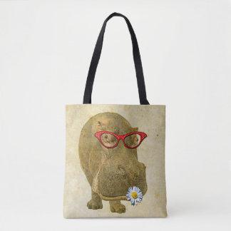 Funky Fun Hippo Tote Bag!