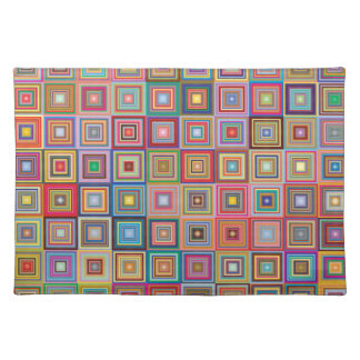 Funky Geometric Granny Style Squares Placemat
