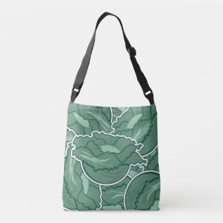 Funky green cabbage crossbody bag