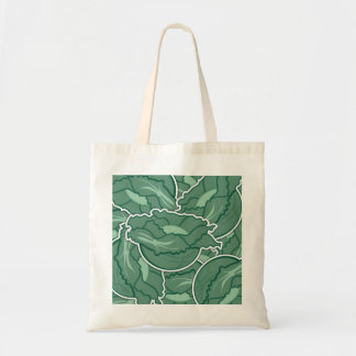 Funky green cabbage tote bag
