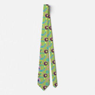 Funky Green Circles Men's Neck Tie