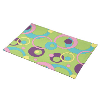 Funky Green Circles Placemat