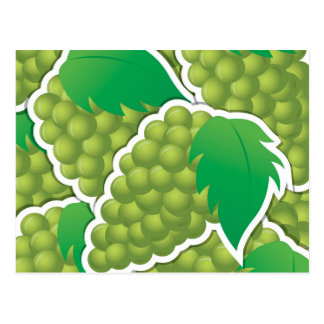Funky green grapes postcard