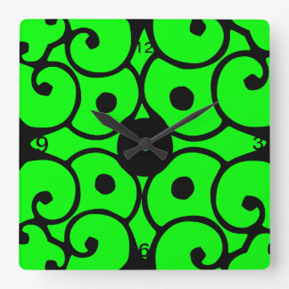 Funky Green Wall Clocks