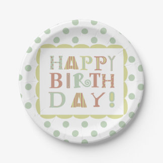 Funky happy birthday paper plate