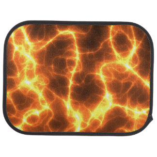 Funky Hot Lava Electricity Fractal Waves Lightning Car Mat