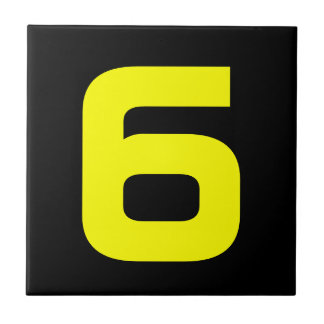 Funky House Numbers Small Square Tile