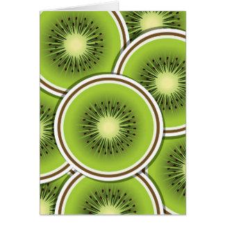 Funky kiwi fruit card