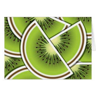 Funky kiwi fruit wedges card