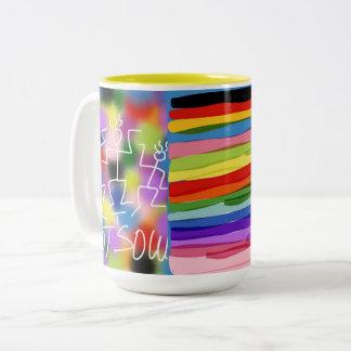 Funky m2 Two-Tone coffee mug