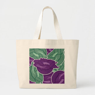 Funky mixed cabbage large tote bag