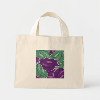 Funky mixed cabbage mini tote bag