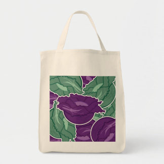 Funky mixed cabbage tote bag