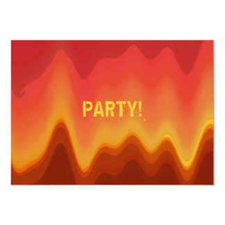 Funky Modern Abstract Flames Design Custom Party Personalized Invitation