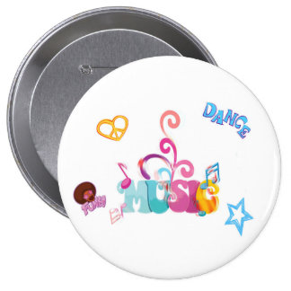 Funky Music 10 Cm Round Badge