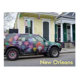 Funky New Orleans Marigny Neighborhood Postcard