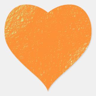 funky orange color heart sticker