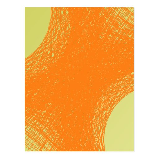 funky orange color post card
