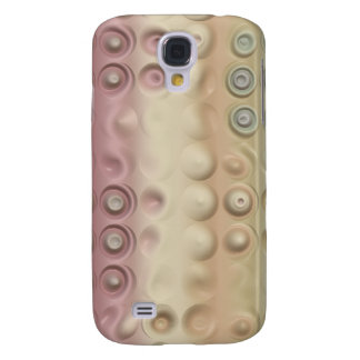 Funky Pastel Creamy Circles and Stripes Galaxy S4 Case