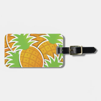 Funky pineapple luggage tag