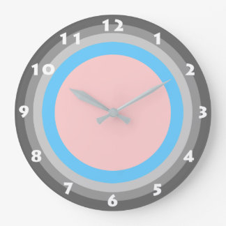 FUNKY PINK AND BLUE Wall Clock