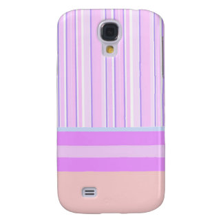 Funky Pink and Purple Stripes Galaxy S4 Case