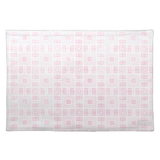 Funky Pink and White Retro Pattern Placemat