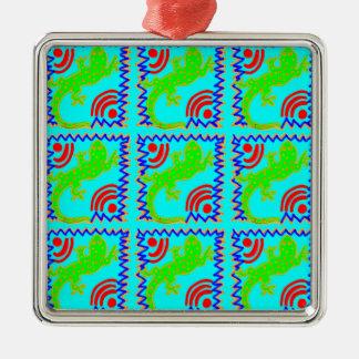 Funky Polka Dot Lizard Pattern Animal Designs Christmas Ornament