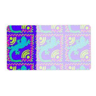 Funky Polka Dot Lizard Pattern Animal Designs Shipping Label