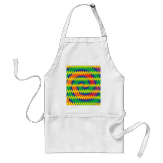 Funky Primary Colors Swirls Chevron ZigZags Design Standard Apron