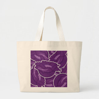 Funky purple cabbage large tote bag