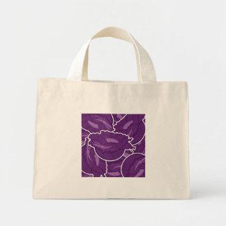 Funky purple cabbage mini tote bag
