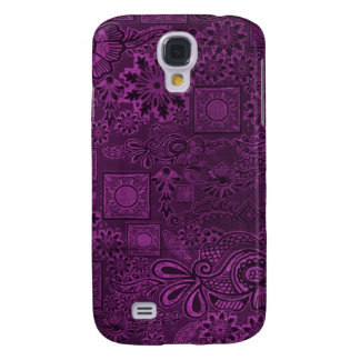 Funky purple texture galaxy s4 case